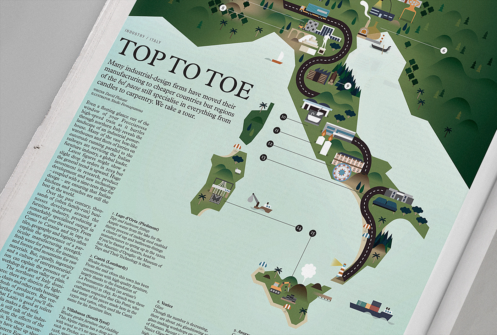 italy map illustration monocle salone weekly